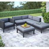 Found it at Wayfair - Oakland 6 Piece Lounge Seating Group with Cushion