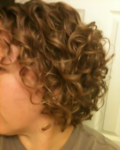 Naturally Curly bob hair style short