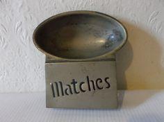 Rare Antique English Silver-plated Matchbook Holder Circa 1867 Tobacciana Collectible