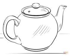 Dibujo de Tetera para colorear | Dibujos para colorear imprimir gratis