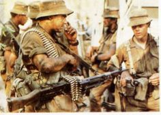 South African Troops during the Border War or also known as the Bush War.