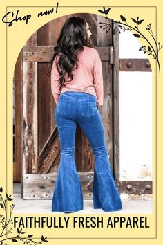 Click the link above to browse through our fresh and bold apparel and accessories for women of all shapes and sizes perfect for casual, professional, and dressy looks. #fashion #womenoutfit #style #outfitidea Bell Bottom Pants, Bell Bottoms, Classic Outfits For Women, Casual Professional, Off Shoulder Jumpsuit, Short Jumpsuit, Flare Pants, High Waist Jeans, Chic Outfits
