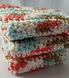 Check out this item in my Etsy shop https://www.etsy.com/listing/509105223/set-of-3-handmade-crochet-dishcloths-100