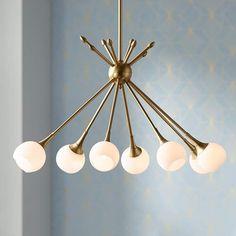 "Pontil 36 1/2""W Honey Gold Kitchen Island Light Chandelier - #15J00 | Lamps Plus Chandelier Lighting Fixtures, Pendant Chandelier, Bar Lighting, Light Fixtures, Chandeliers, Lighting Ideas, Chandelier Ideas, Lighting Design, Mid Century Modern Chandelier"