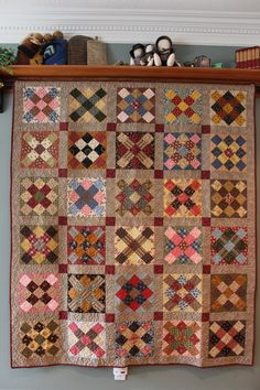 I finished a couple of quilts last week and took some photos of them and others today. I love being surrounded by books, quilts and good friends. Sampler Quilts, Amish Quilts, Scrappy Quilts, Antique Quilts, Vintage Quilts, Vintage Toys, Granny Square Quilt, Granny Squares, Charm Quilt