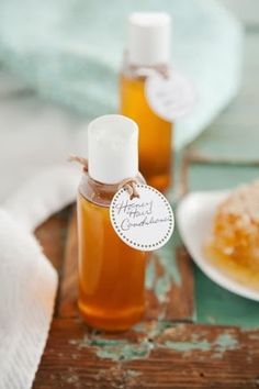 The Kitchen Beautician: Shine-Boosting Honey Conditioner (this would make a great gift if added to a basket with other DIY goodies!)