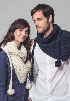 Knitted Shawls, Crochet Scarves, Crochet Shawl, Crochet Clothes, Baby Hats Knitting, Knitting Socks, Snood Pattern, Reuse Clothes, Crochet Men