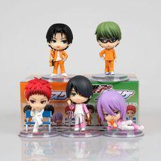 5pcs set Kuroko no basket Tetsuya Kuroko kise Ryota mini pvc action figure Japanese Anime toys doll brinquedos for children 6cm #Affiliate