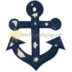 Anchor Applique Design sample