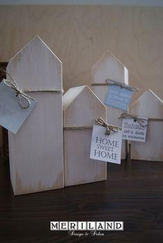 Deko-Objekte - Holzhaus mit Spruch zum Einstand, Einweihung 14,- € (Diy Wood Work Cases)