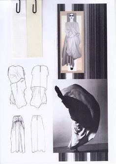 Fashion Sketchbook - fashion design process with research & dress structure development; graduate fashion portfolio // Rachel Raheja
