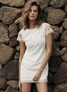 Mango Babe. white dress. sheer and sexy. www.shoppingstylenus.com