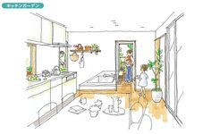 子育てを楽しむセカンドデッキのある住まい | 間取りプランニング | すむすむ | Panasonic Chair, House, Furniture, Home Decor, Home, Haus, Stool, Interior Design, Home Interior Design