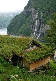 Stunning mountain landscape in Geiranger fjord, Sunnmore, Norway.