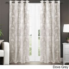 ATI Home Bangalore Paisley Thermal Insulated Grommet Top Window 84-Inch Curtain Panel Pair (Bangalore