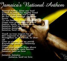Jamaica national anthem Jamaican Quotes, Jamaican Art, Jamaican Patwa, Jamaican Slang, Jamaican Recipes, Jamaica Culture, Caribbean Culture, Jamaican National Anthem, Alberta Canada