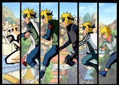 The Konoha Background is NOT mine. Namikaze Minato Road to Hokage Anime Naruto, Manga Anime, Naruto Fan Art, Naruto Sasuke Sakura, Naruto Shippuden Sasuke, Anime Eyes, Hinata, Naruhina, Boruto
