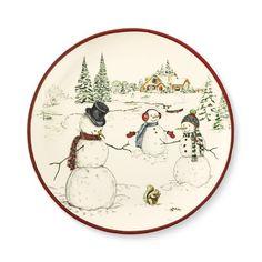 Snowman Dinner Plates, Set of 4 #williamssonoma