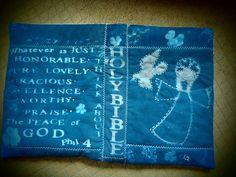 Cyanotype book cover