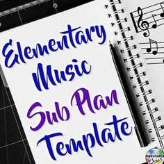Music Teacher Sub Plan Template: Organized Chaos. This set includes fully editable word document form for substitute teacher information sheets and sample lesson plans. Perfect for emergency sub tub or sub binder for elementary music teachers!