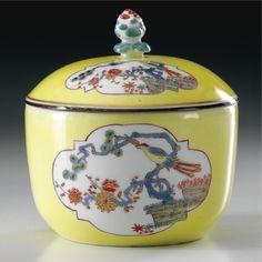 A Meissen Porcelain Sugar-Pot, Antique China, Antique Glass, Vintage China, Fine Porcelain, Porcelain Ceramics, Ceramic Pottery, Dresden China, Cream And Sugar, Jar Lids