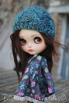Blythe OOAK custom with alpaca : Avril by by BellaDollaCreations
