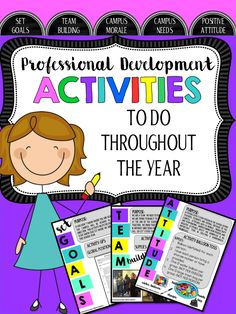 Professional Development Activities- A great resource for the entire school year.  Make your staff development days meaningful with a positive message.