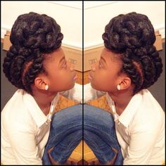 11 Elementary Protective Hairstyles for Natural Hair Picture - Coiffure Sites Natural Hair Updo, Natural Hair Growth, Natural Hair Styles, Protective Hairstyles For Natural Hair, Easy Hairstyles, Updo Hairstyle, Girl Hairstyles, Mohawk, How To Grow Natural Hair