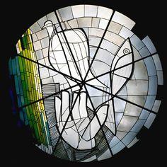 GEORG MEISTERMANN (1911-1990) Stained Glass Church, Modern Stained Glass, Stained Glass Paint, Stained Glass Designs, Stained Glass Panels, Stained Glass Projects, Mosaic Glass, Glass Art, Leaded Glass Windows