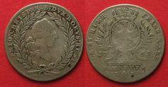 1765 Brandenburg-Bayreuth BRANDENBURG-BAYREUTH 20 Kreuzer 1765 ES FRIEDRICH CHRISTIAN silver VF # 89858 VF