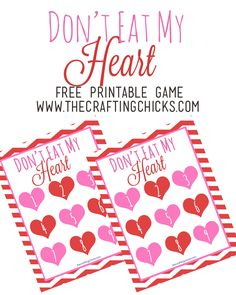 Valentine Version of Don't Eat Pete - Free Printable - This is great for class parties!