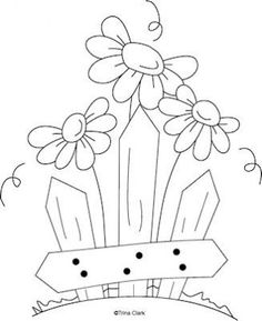 Simple Pleasures 5 Country Line Art Pattern