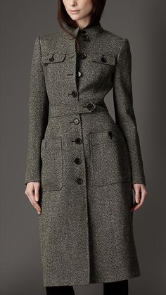 Women's Autumn/Winter Slim Coat With Decorative Belt Gender:Women Outerwear Type:Wool & Blends Collar:Turn-down Collar Closure Type:Single Breasted Slee Muslim Fashion, Hijab Fashion, Fashion Dresses, Mantel Outfit, Hijab Stile, Coats For Women, Clothes For Women, Mode Mantel, Office Wear