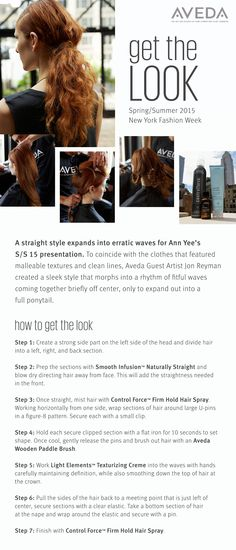 Get the look from the Ann Yee S/S 2015 #NYFW show.