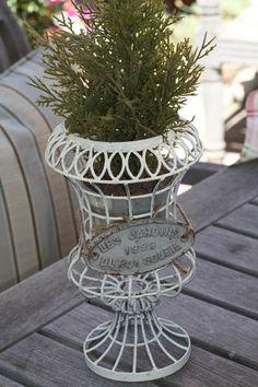 le jardin wire urn by vintageweave interiors, inc.