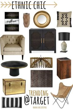 Ethnic Chic Get the Look at Anthropologie & Target - Cindy Hattersley Design Decor, Chic Interior, Afrocentric Decor, Chic Home Decor, African Decor Living Room, Interior Design, Home Decor, Tribal Decor, Apartment Decor
