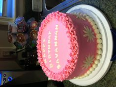 Pink ruffled cake!