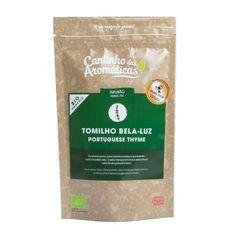 Tomilho Bela-Luz, Biológico, Cantinho das Aromáticas, aromas complexos, resina e eucalipto seco, sabor intensamente fresco, notas de rebuçados de mentol
