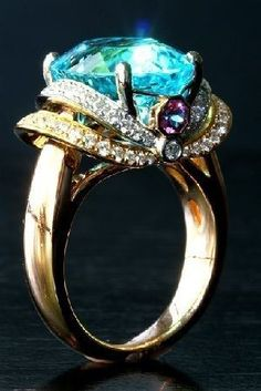 #Gold #BlueTopaz #Amethyst #Diamond #Rings #jewellery
