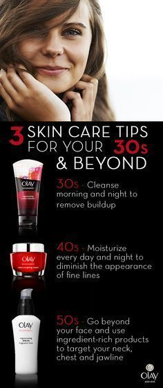 Getting older is inevitable but older looking skin is not. With a commitment to a good skin care regimen, rest easy knowing that your healthy looking complexion can last well into your 30s, 40s and 50s. For skin care tips at any age, use Olay Regenerist Micro-Sculpting Cream to renew from within, plumping surface cells without the need for fillers. No matter your age, ensure you place emphasis on cleansing, moisturizing with SPF and targeting your jawline, neck and chest. #eyecreamsfor30s