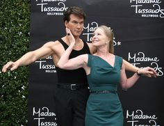 "Lisa Niemi, Patrick Swayze's widow, hasn't been able to hold her husband for the last two years. The ""Dirty Dancing"" actor passed away in 2009 after losing a battle with . Lisa Niemi, Dirty Dancing, Hollywood Fashion, In Hollywood, Jennifer Grey Patrick Swayze, Wax Statue, Wax Museum, Madame Tussauds, Celebrity Portraits"
