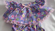"Purple Sparkle Print Dress/Bloomers fits 12-14"" Cab Patch/Berenguer/My Child"