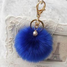 Sale 2016 New Rabbit Fur Ball Keychain Bag Plush Car Key Ring Car Key Pendant Fast Shipping Feida