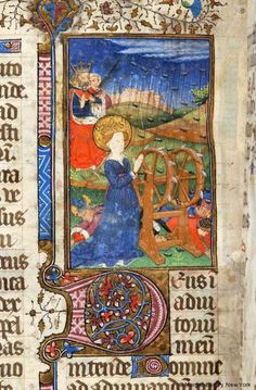 Catherine of Alexandria | Book of Hours | France, probably Rouen |  ca. 1420-1430 |  The Morgan Library & Museum