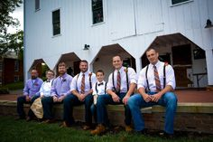 These groomsmen look great in their rustic wedding ensembles! Don't you think so? When it comes to your big day, each element should work together to create a cohesive appearance.  #groomsmen #rustic #rusticwedding #wedding #reflectionseventgroup #columbuswedding #cbuswedding