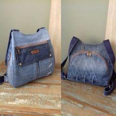 """120 curtidas, 8 comentários - COSTURANDO CORES (@costurandocores) no Instagram: """"Mochila Rita em jeans reciclado. #costurandocores #mochila #feitoamão #handmadebags #backpack…"""""""