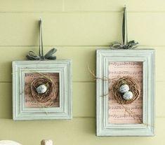 De nidos a preciosos cuadritos!!!
