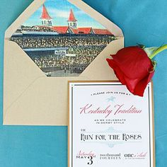 The Invitations | Derby-inspired paper goods cast in a rosy shade set the tone for the event from the very start. | SouthernLiving.com