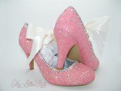 Blush Pink and Clear AB rhinestone and satin ribbon Heels for Bridal shoes Bridesmaid Wedding Heels Comfortable heels Sweet 16 Holiday, Bridal Heels, Wedding Heels, Blush Bridal, Bling Heels, Comfortable Heels, Blue Glitter, Wedding Bridesmaids, Sweet 16, Blush Pink