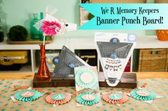 We R Memory Keepers Banner Punch Board Letter Press, Punch Tool, Craft Punches, We R Memory Keepers, Punch Board, Create And Craft, American Crafts, My Memory, Board Ideas